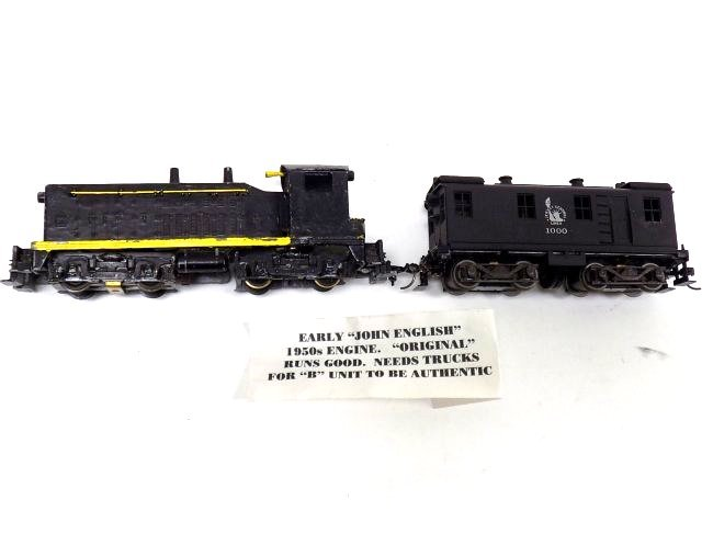 1950'S JOHN ENGLISH LOCOMOTIVE TRAIN W/ JERSEY CAR
