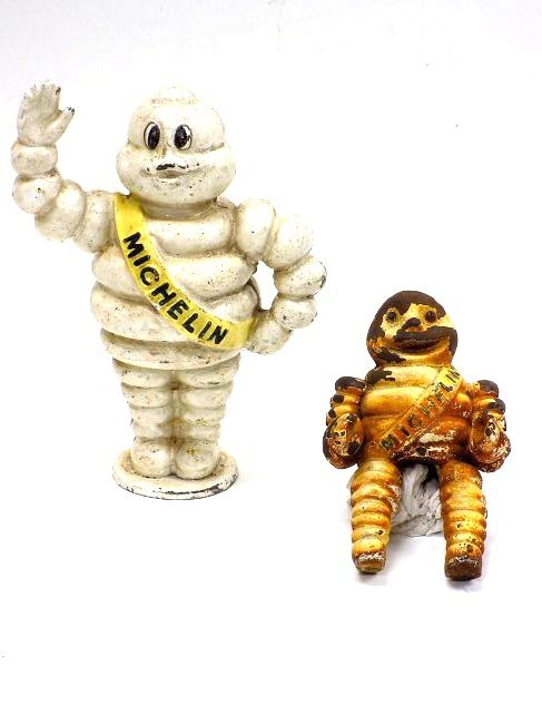 MICHELIN MAN BIBENDUM CAST IRON ADVERTISING FIGURE
