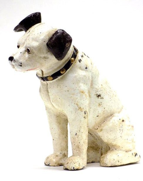 RCA MASCOT NIPPER CAST IRON STILL BANK