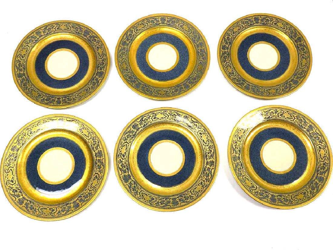 10 ROSENTHAL BAILEY BANKS BIDDLE GOLD PLATE SET