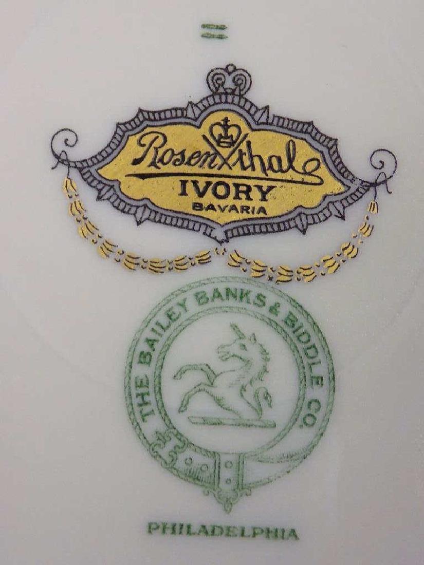 10 ROSENTHAL BAILEY BANKS BIDDLE GOLD PLATE SET - 5
