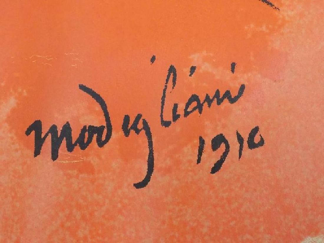 MODIGLIANI - HEAD OF A WOMAN 1910 SCREEN PRINT - 3