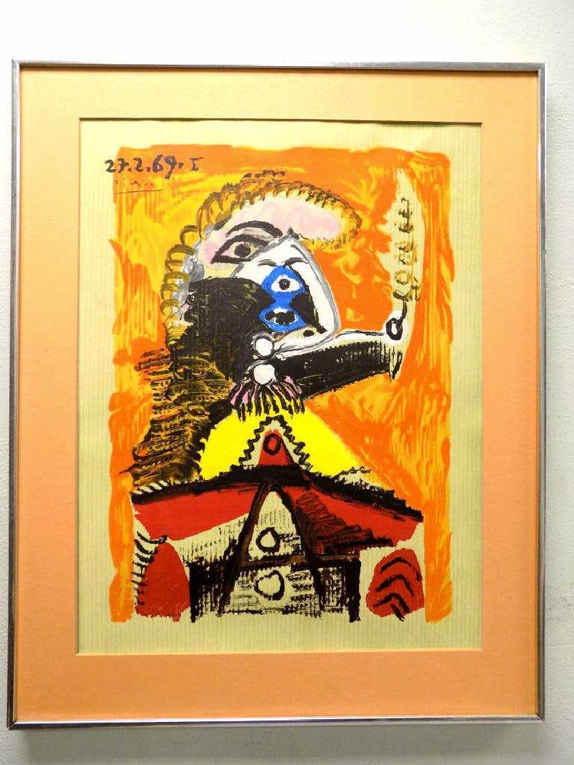 PICASSO - ABSTRACT FIGURE SILK SCREEN - 2