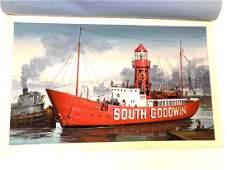 EIDSON  SOUTH GOODWIN LIGHTSHIP ILLUSTRATION ART