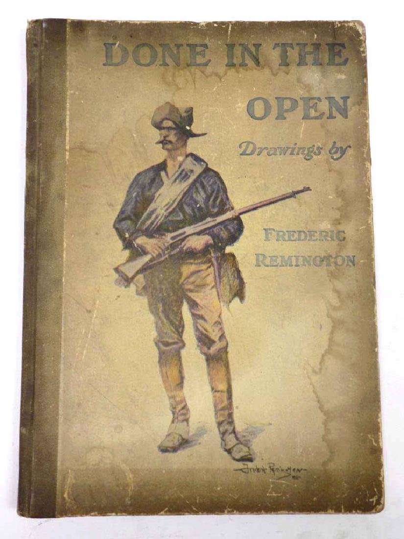 FREDERIC REMINGTON DONE IN THE OPEN DRAWINGS BOOK