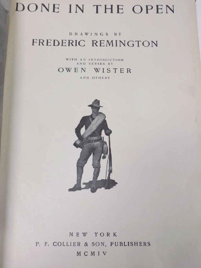 FREDERIC REMINGTON DONE IN THE OPEN DRAWINGS BOOK - 2