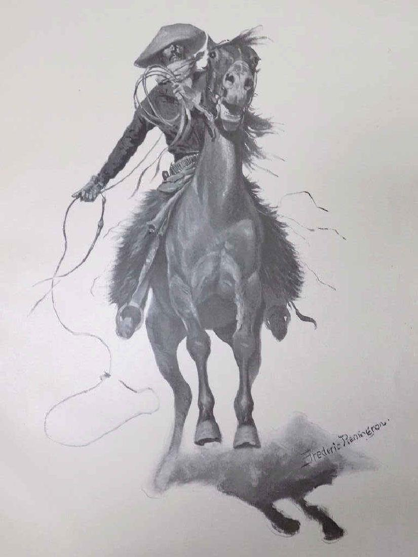 FREDERIC REMINGTON DONE IN THE OPEN DRAWINGS BOOK - 3