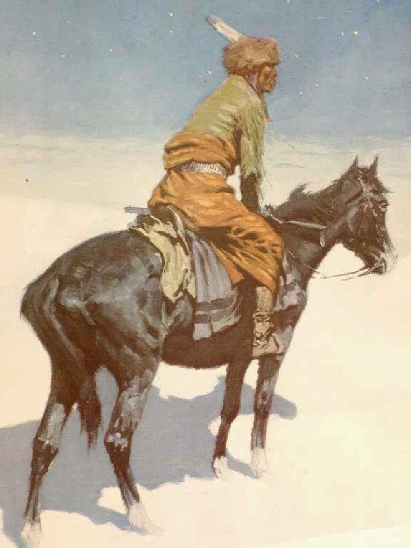 FREDERIC REMINGTON - INDIAN WINTER LITHOGRAPH