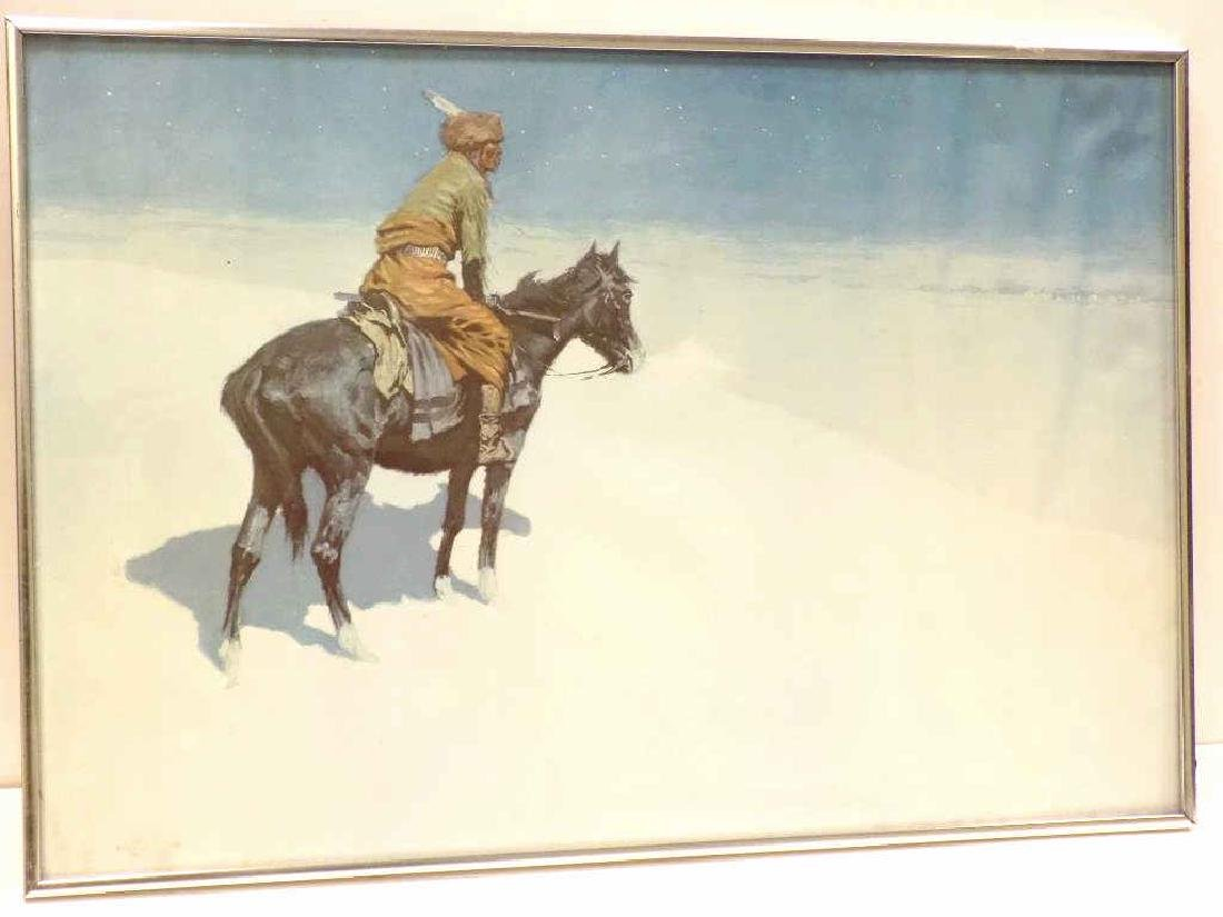 FREDERIC REMINGTON - INDIAN WINTER LITHOGRAPH - 2