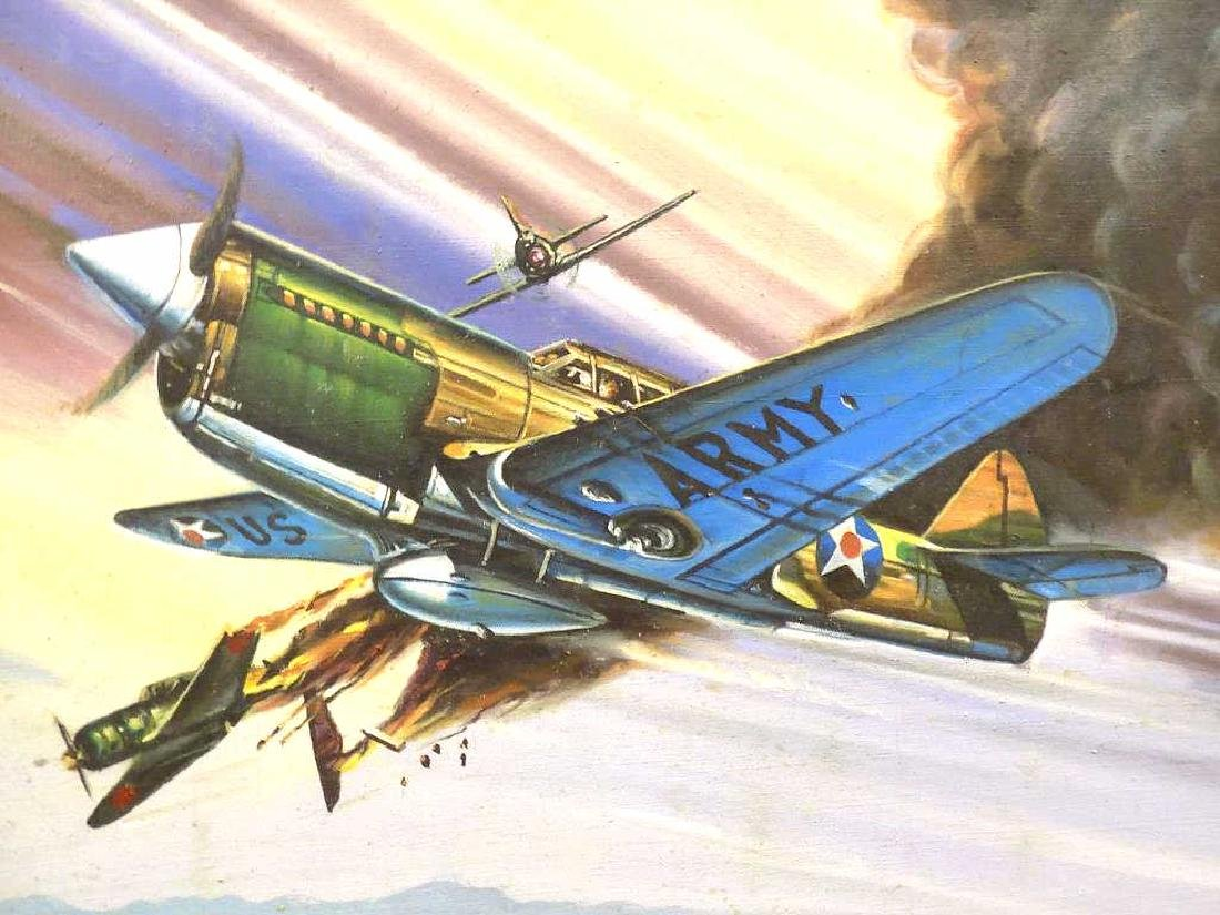 K.H. - WWII UNITED STATES ARMY WAR PLANE PAINTING - 2