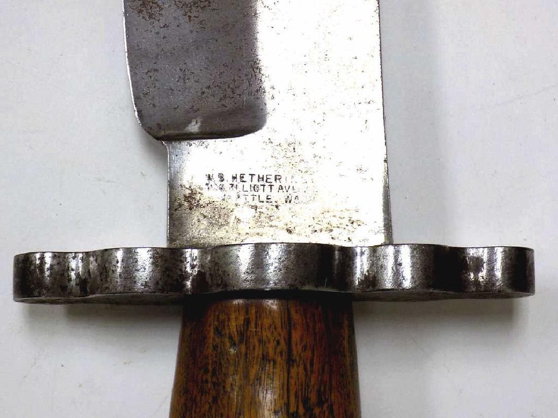 W.B. HETHERINGTON - HUGE CUSTOM BOWIE KNIFE - 2