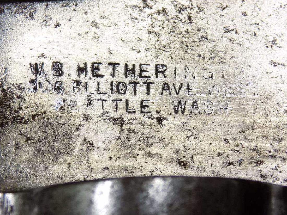 W.B. HETHERINGTON - HUGE CUSTOM BOWIE KNIFE - 3