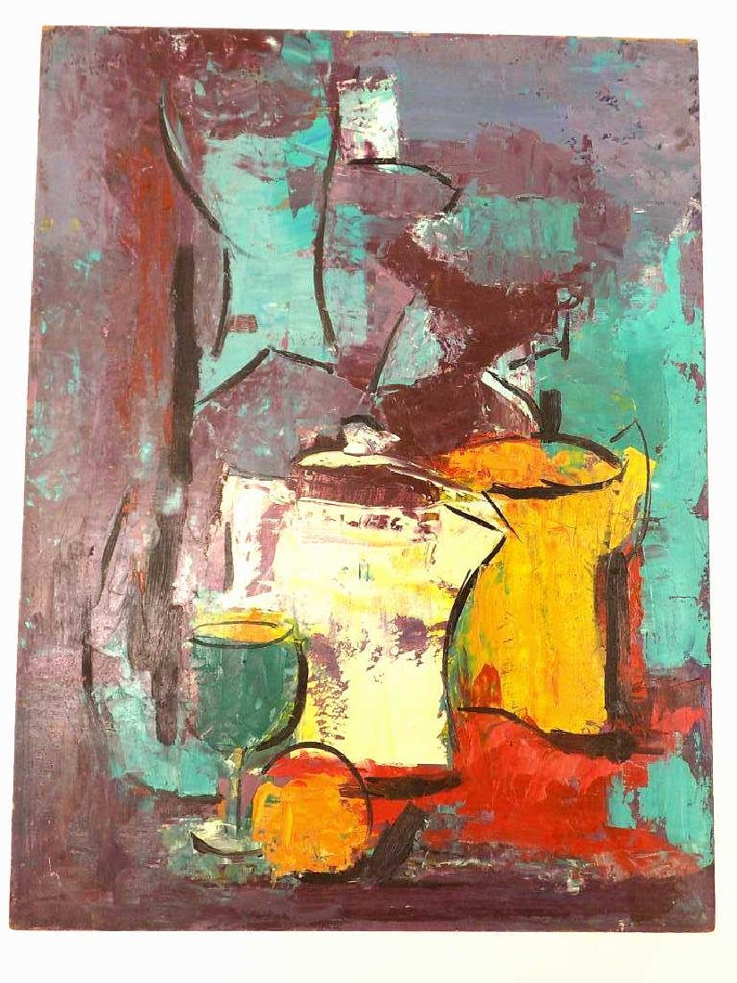 MIDCENTURY ABSTRACT STILL LIFE PAINTING