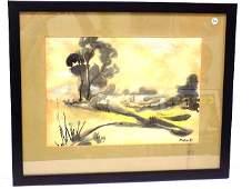 JOHN MARIN - LANDSCAPE WATERCOLOR & INK