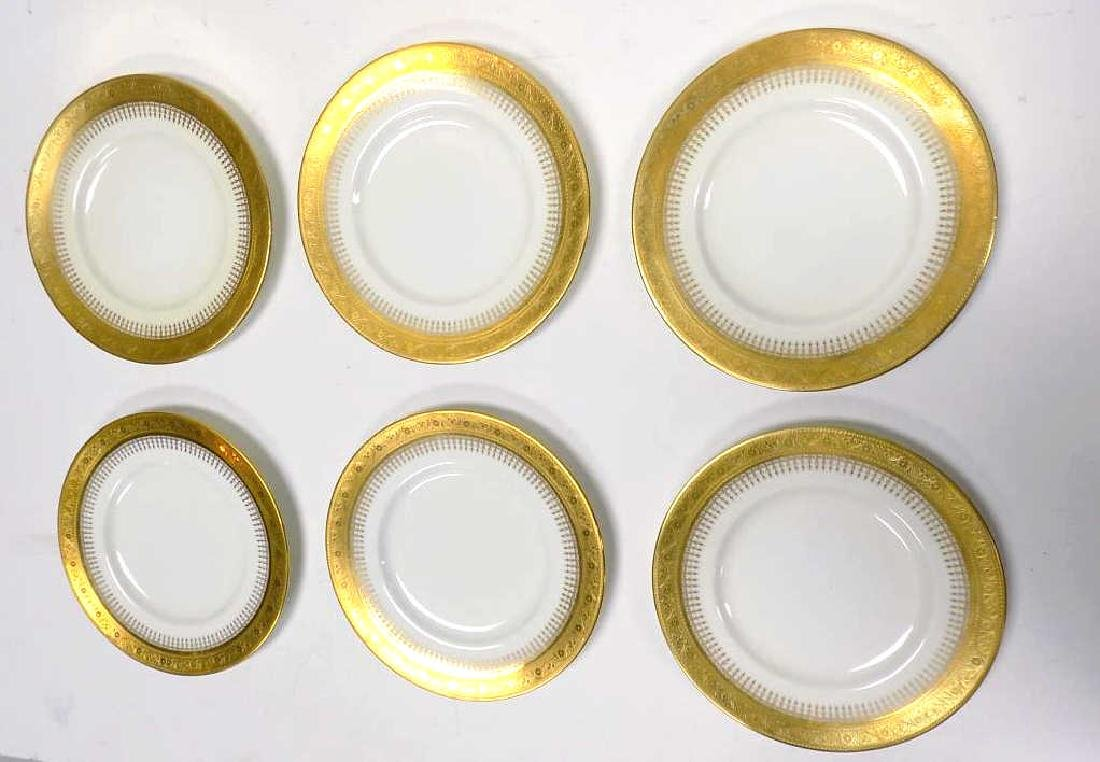 PLUMMER & CO. 5TH AVE NYC MINTONS GOLD GILT PLATE SET - 3