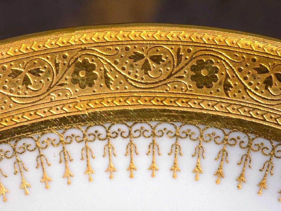 PLUMMER & CO. 5TH AVE NYC MINTONS GOLD GILT PLATE SET - 4
