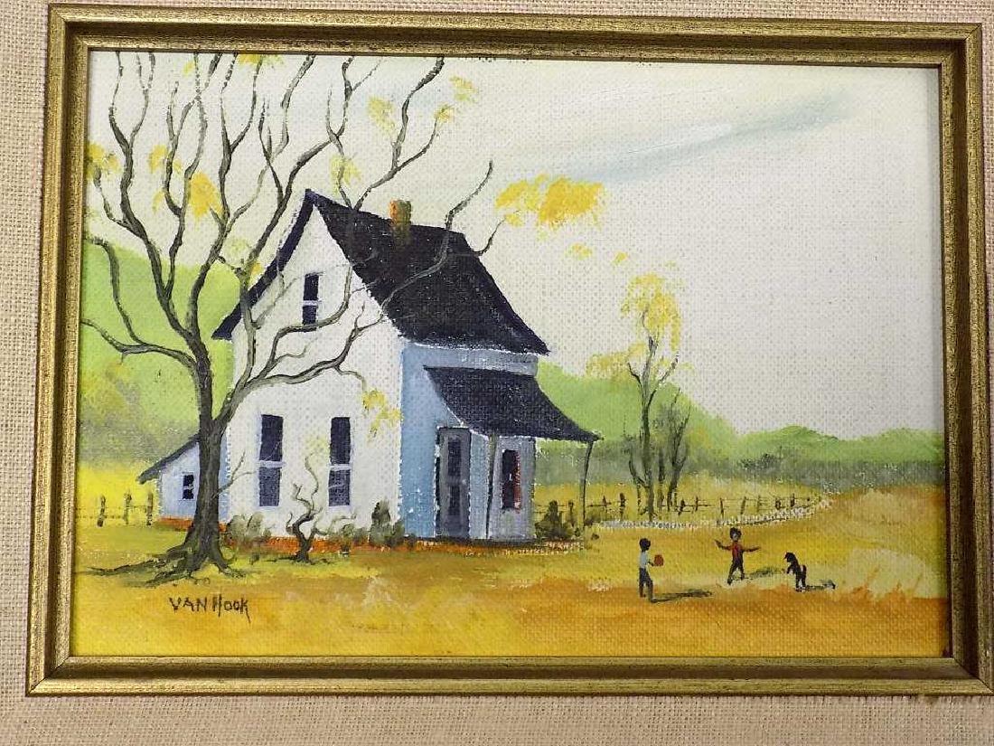 VAN HOOK - FOLK ART PLAYING CHILDREN PAINTING