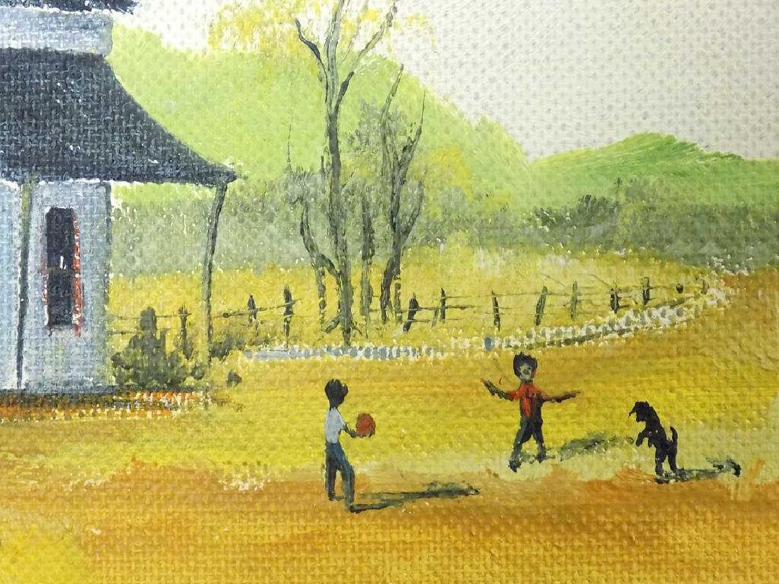 VAN HOOK - FOLK ART PLAYING CHILDREN PAINTING - 2
