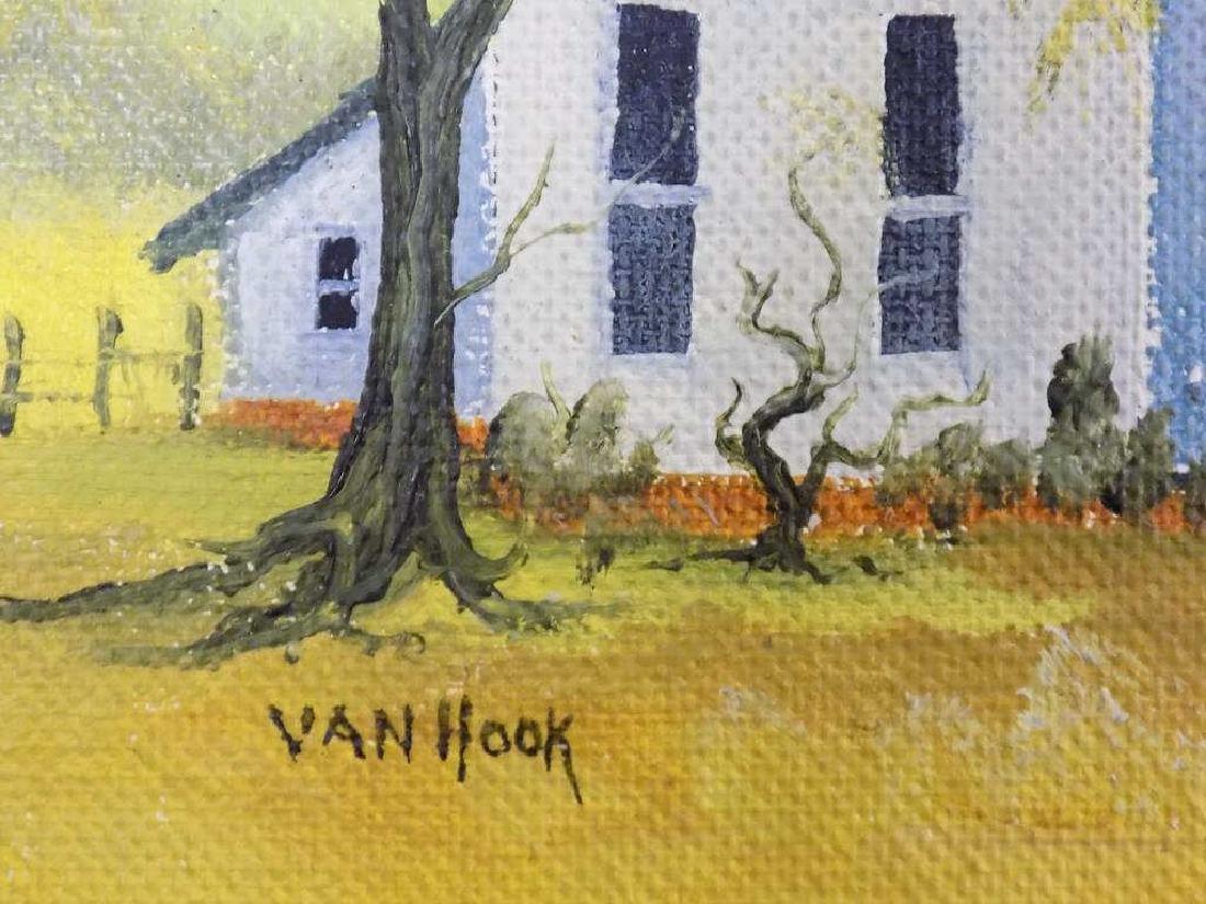 VAN HOOK - FOLK ART PLAYING CHILDREN PAINTING - 3