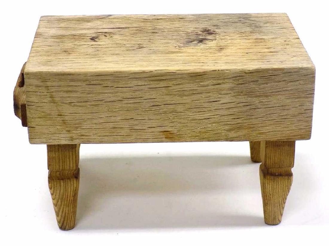 MINIATURE BUTCHER BLOCK TABLE
