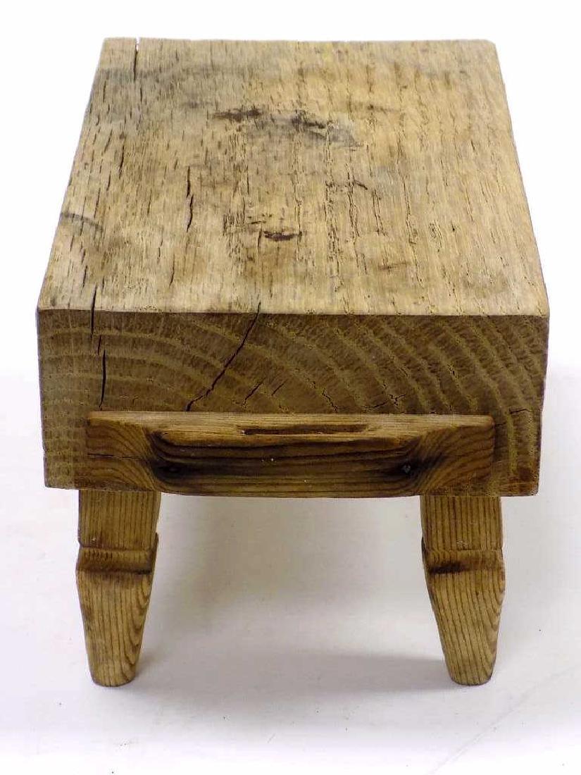 MINIATURE BUTCHER BLOCK TABLE - 2