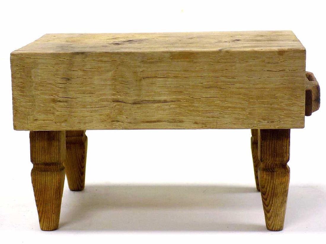 MINIATURE BUTCHER BLOCK TABLE - 3