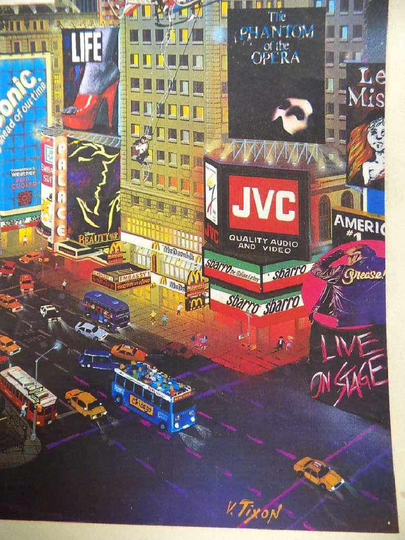 V. TIXON - NEW YORK CITY TIMES SQUARE SIGNED PRINT - 3
