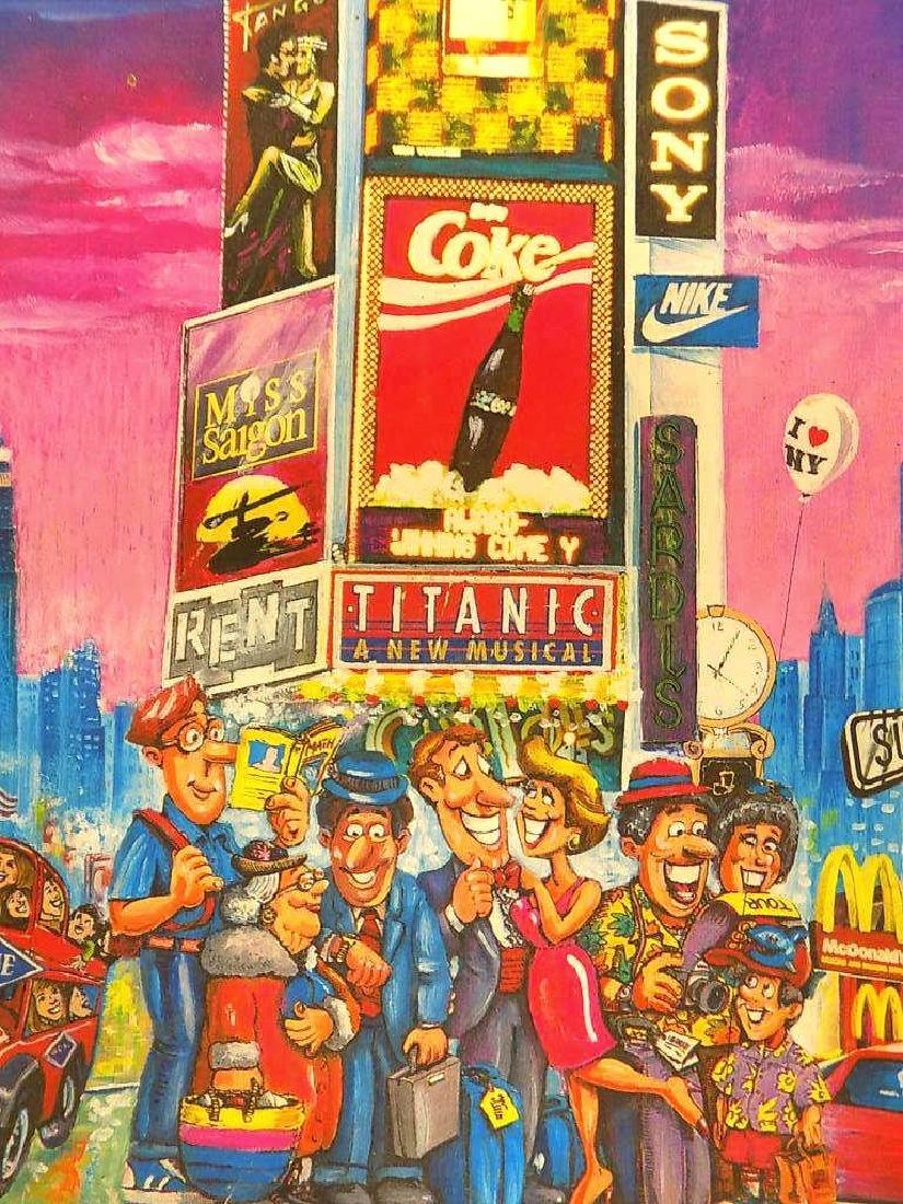 V. TIXON - NEW YORK CITY TIMES SQUARE SIGNED PRINT - 2
