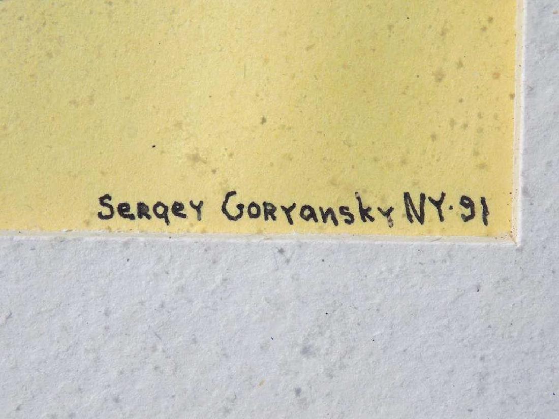 SERGEY GORYANSKY - RUSSIAN EXPRESSIONIST GOUACHE - 3