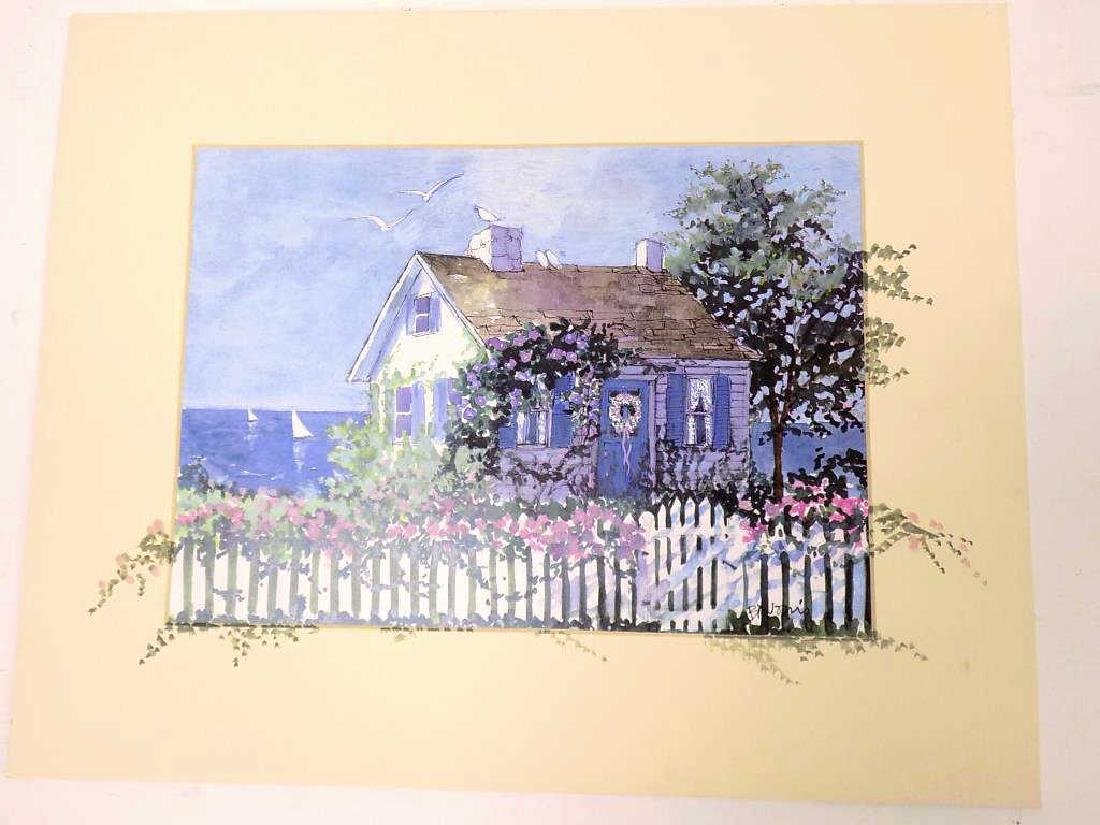 BARBARA NORRIS - COUNTRY COTTAGES MIXED MEDIA