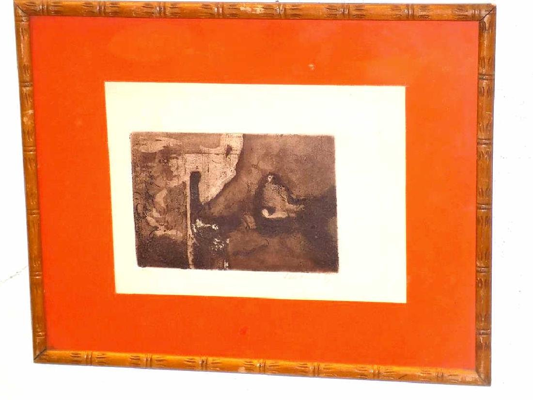 JOSE LUIS FARIAS - ABSTRACT SIGNED ETCHING