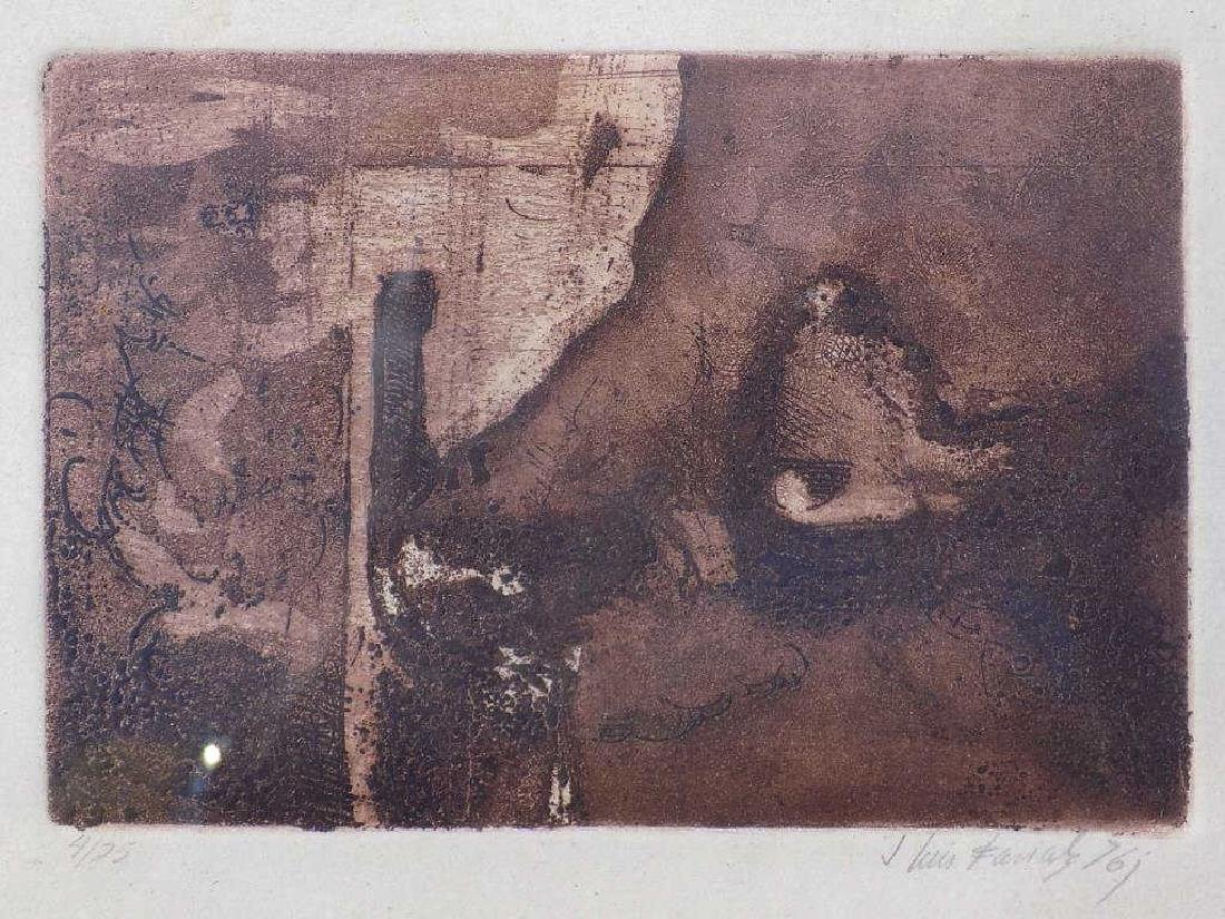 JOSE LUIS FARIAS - ABSTRACT SIGNED ETCHING - 2