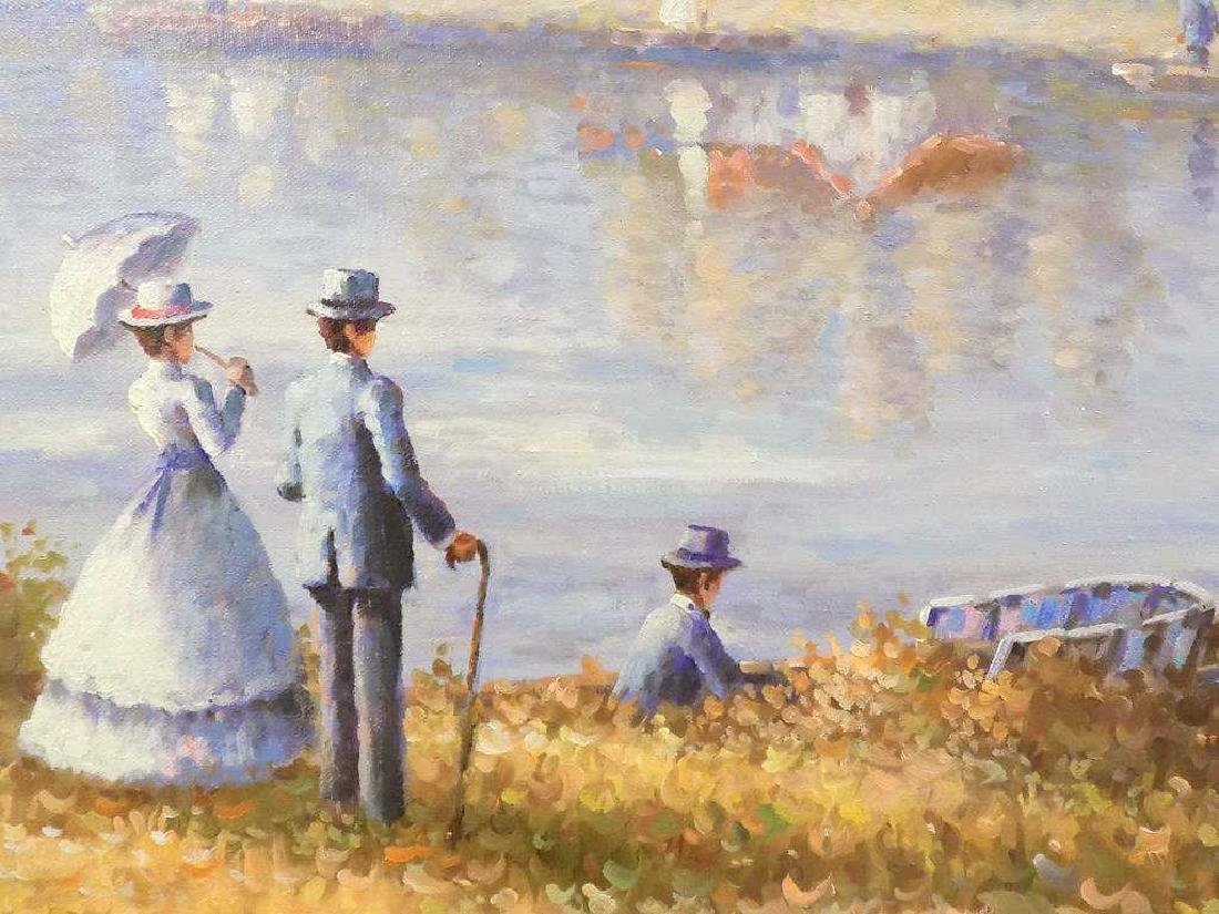 DUBOIS - RIVERSIDE SAILBOATS PAINTING - 2