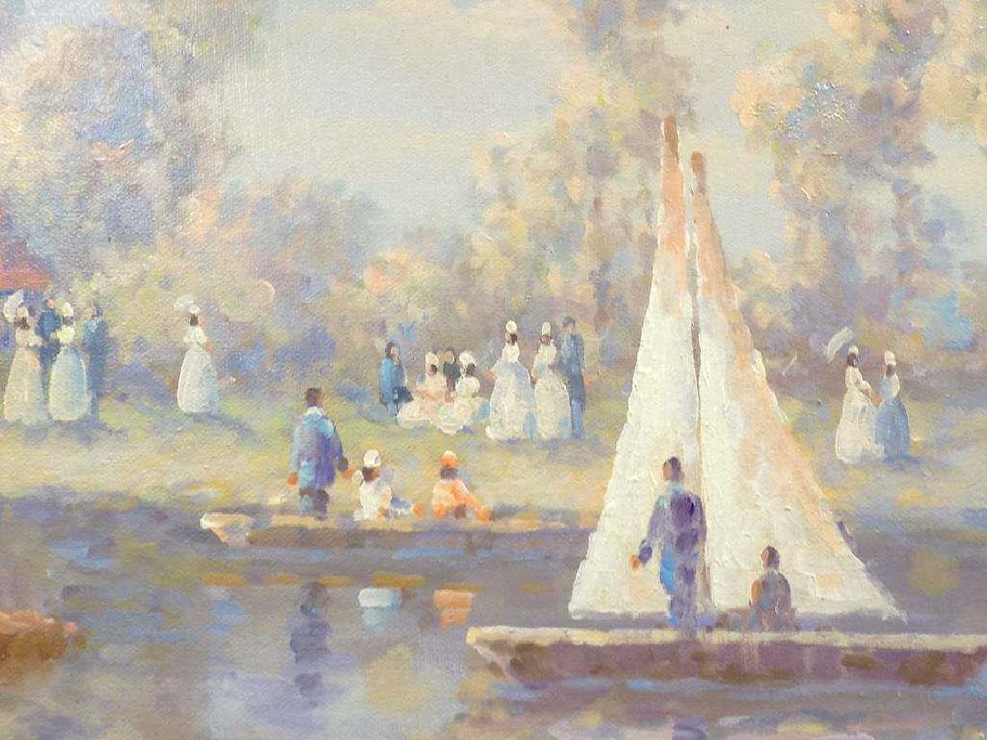DUBOIS - RIVERSIDE SAILBOATS PAINTING - 3
