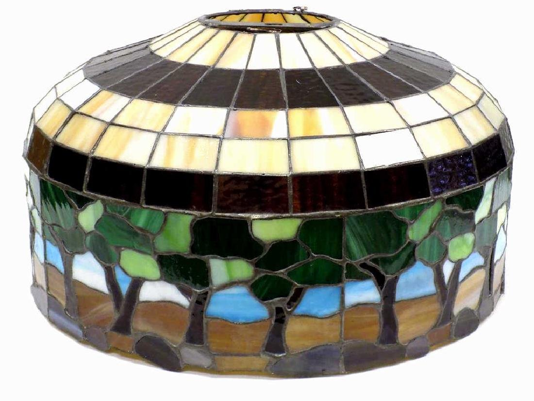 HEART STAINED GLASS CO. TIFFANY STYLE GLASS SHADE