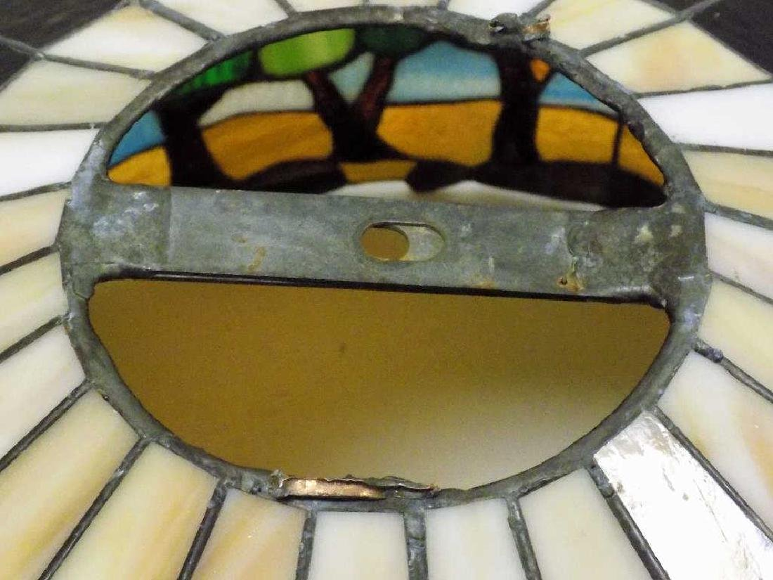 HEART STAINED GLASS CO. TIFFANY STYLE GLASS SHADE - 2