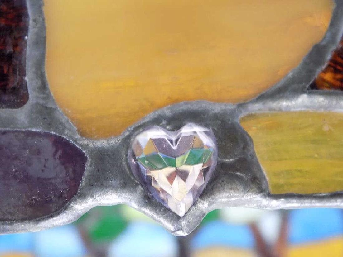 HEART STAINED GLASS CO. TIFFANY STYLE GLASS SHADE - 3