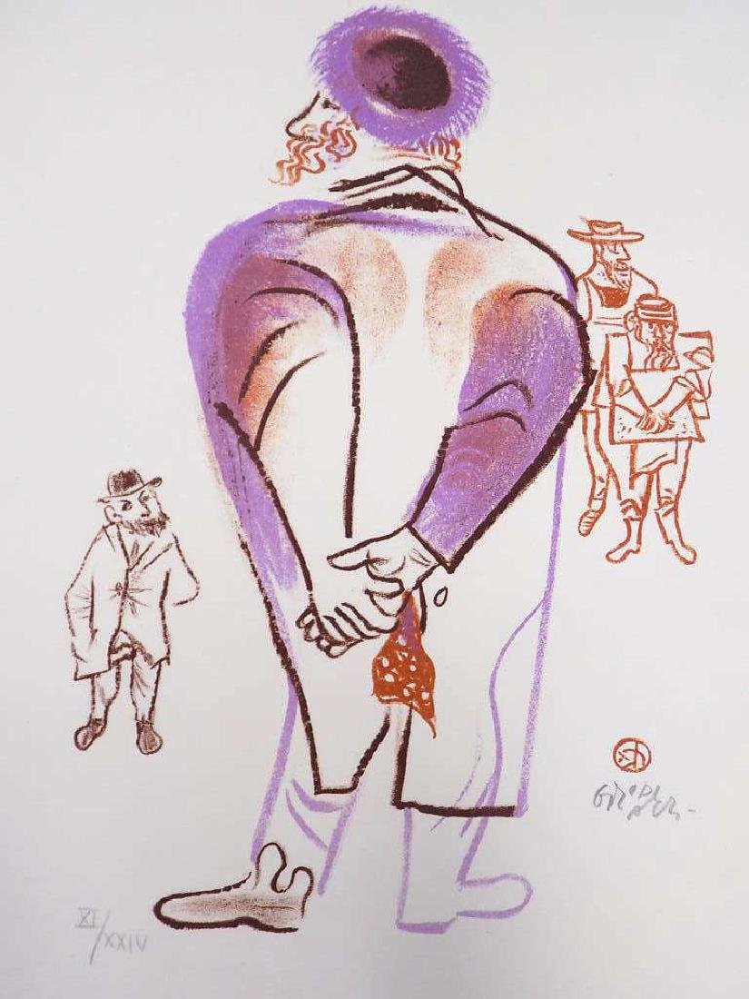 GROPPER - JUDAIC FIGURES SIGNED LITHOGRAPH