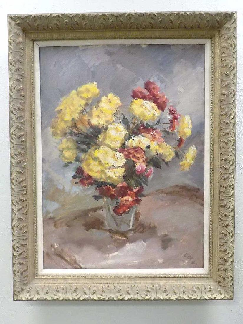 COX - FLOWERS IN A VASE STILL LIFE PAINTING