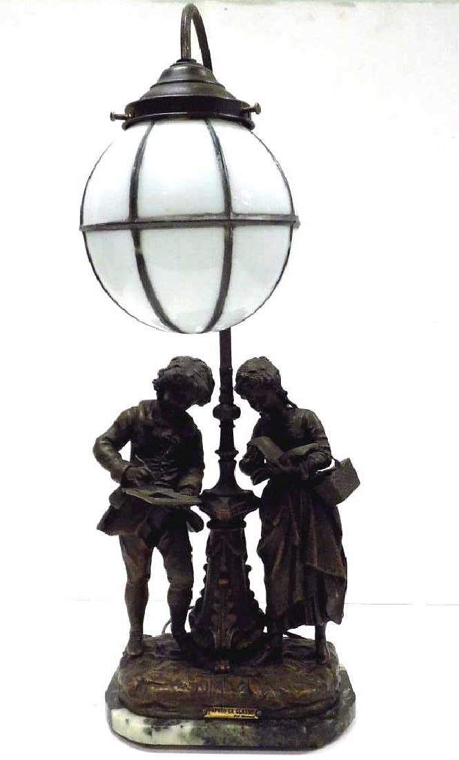 MOREAU - LA CLASSE BRONZED FIGURAL LAMP