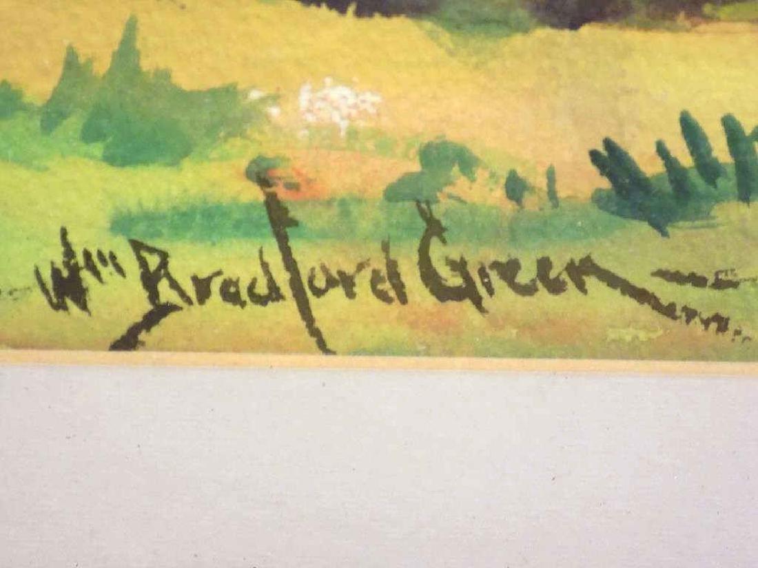 WILLIAM BRADFORD GREEN - HUDSON VALLEY WATERCOLOR - 3