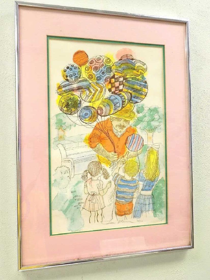 DAN BLOOM - BALLOON MAN SIGNED LITHOGRAPH