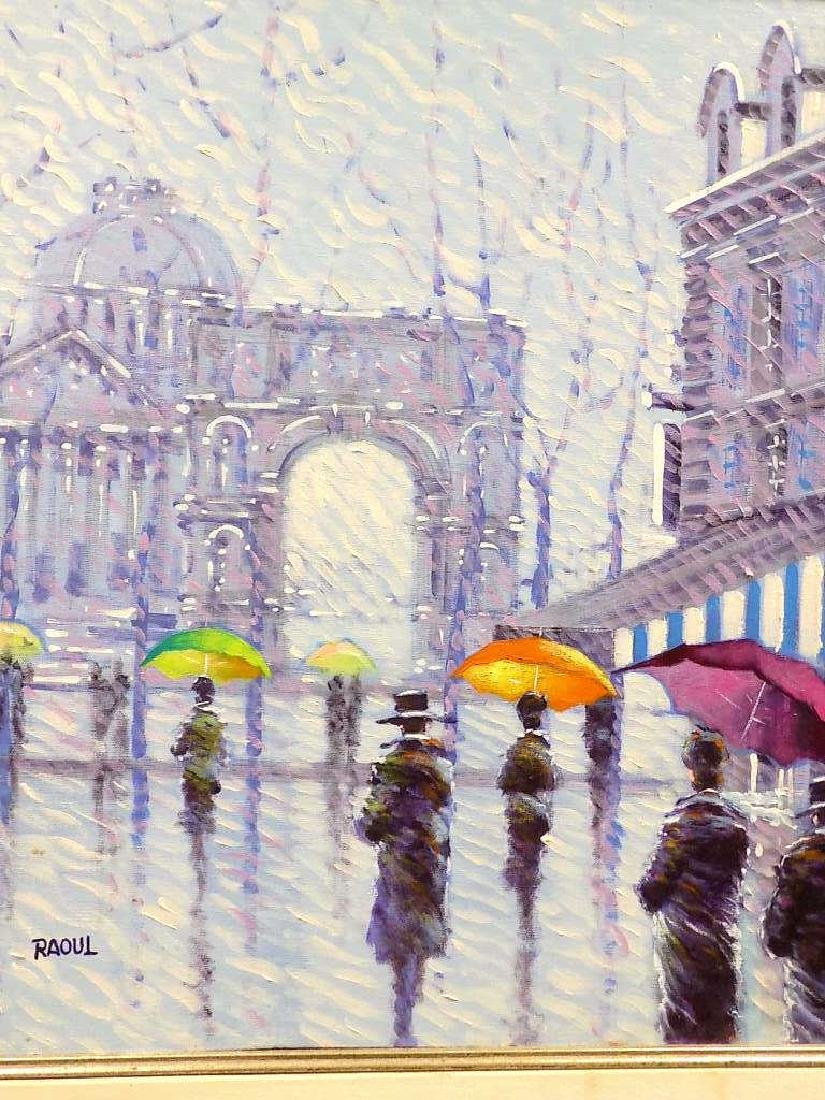 RAOUL - WALKING IN THE RAIN PAINTING - 2