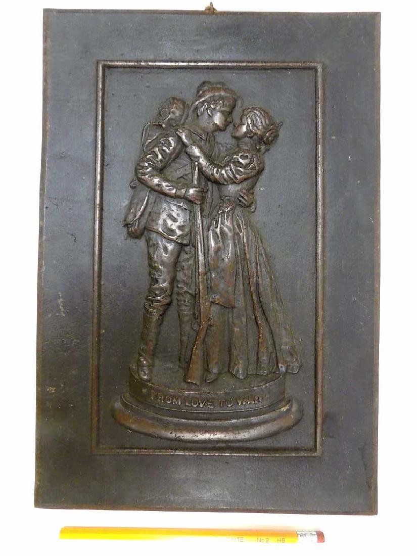 BATTLE SOLDIER BRONZED PLAQUE