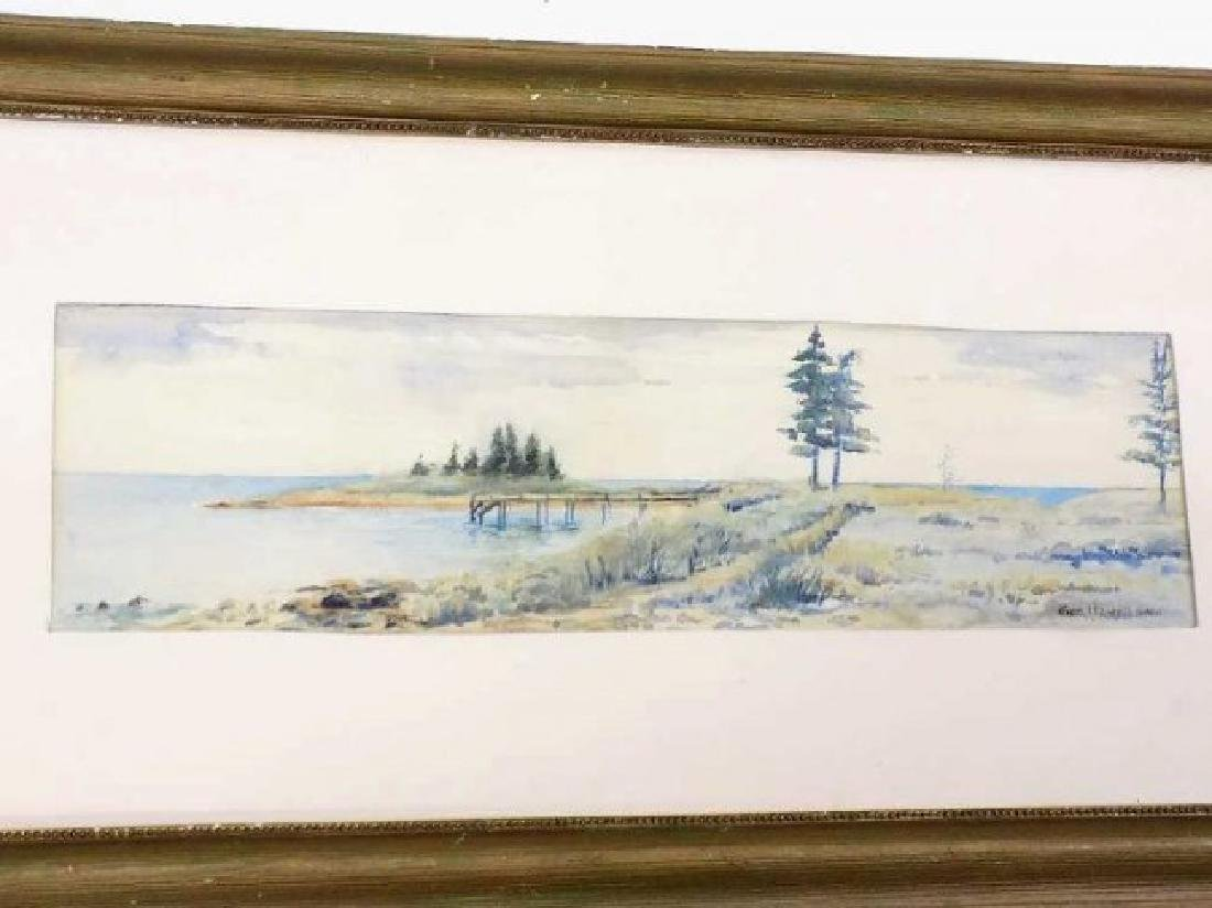 GEORGE HOWELL GAY - COASTAL WATERCOLOR PAINTING