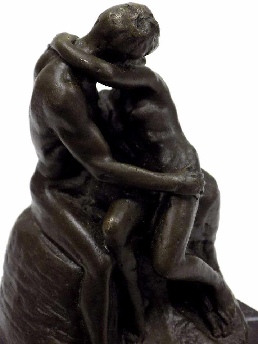 RODIN - LOVERS BRONZE STATUE