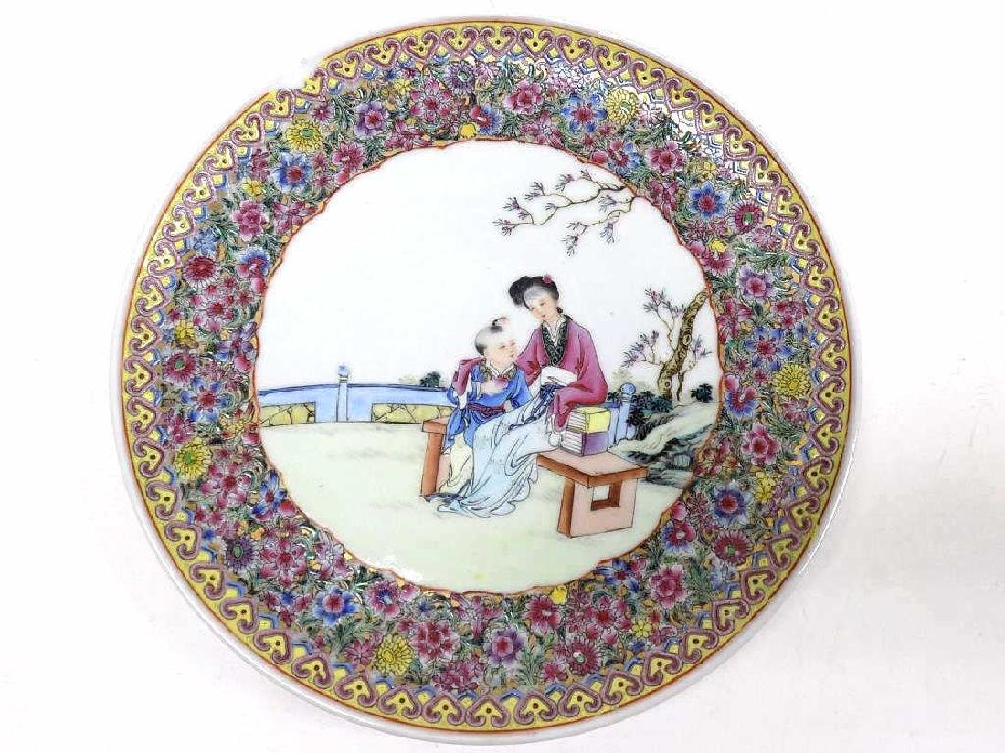 CHINESE FAMILLE JUANE SCENIC PLATE