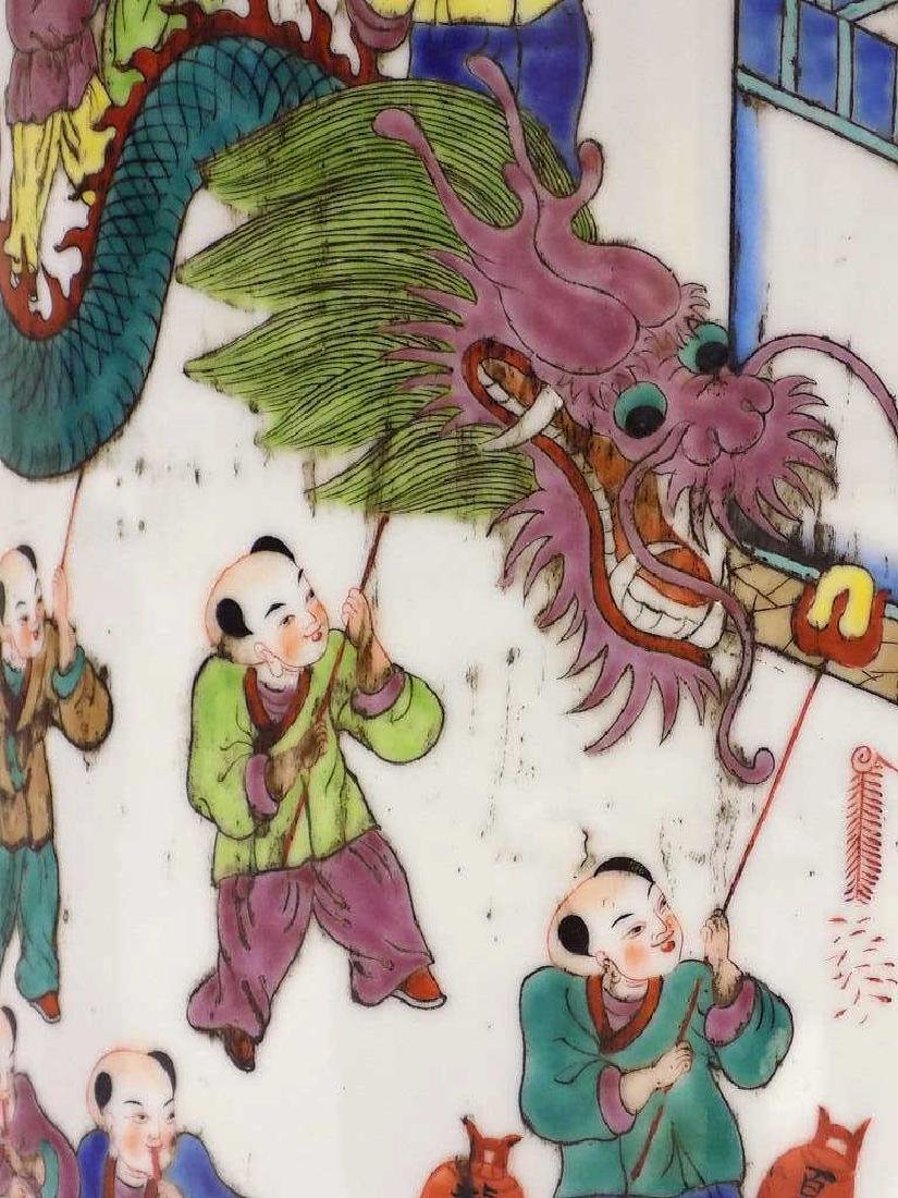 CHINESE FAMILLE VERTE UMBRELLA STAND - 4