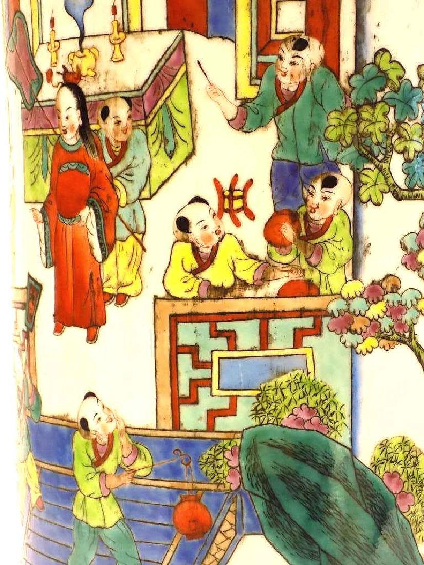 CHINESE FAMILLE VERTE UMBRELLA STAND - 5