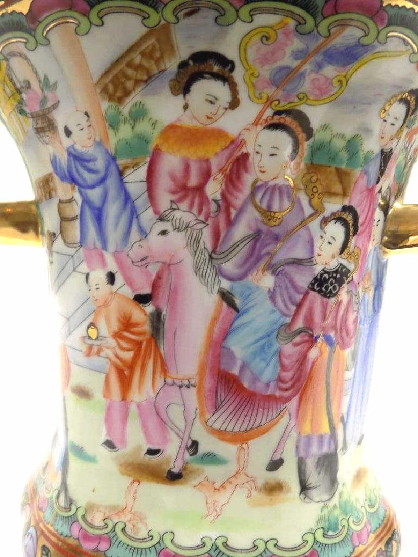 CHINESE FAMILLE ROSE URN - 3
